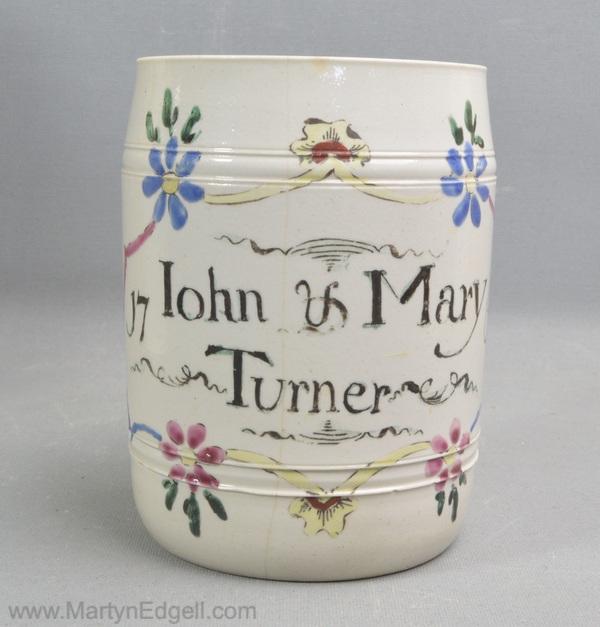 Staffordshire saltglaze mug