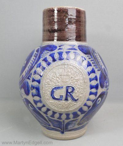Westerwald stoneware GR jug
