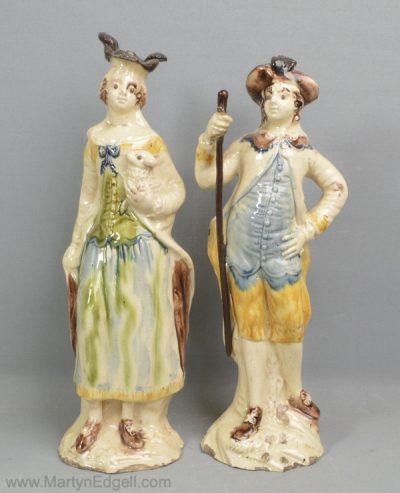 Staffordshire creamware figures