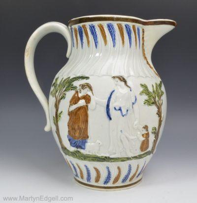 Prattware pearlware jug