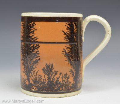 Mochaware creamware mug