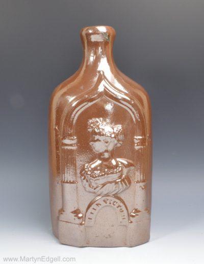 Saltglaze stoneware flask