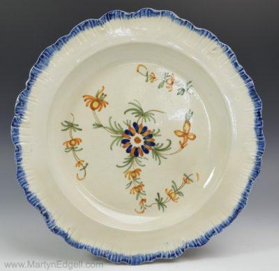 Prattware pottery plate