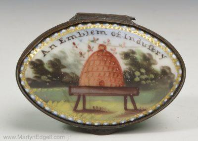 Staffordshire enamel patch box