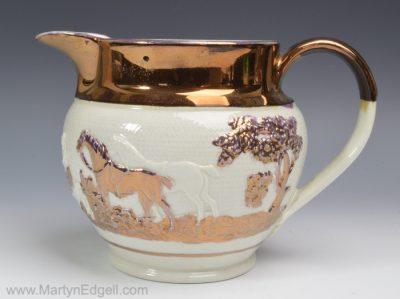 Lustre stoneware jug
