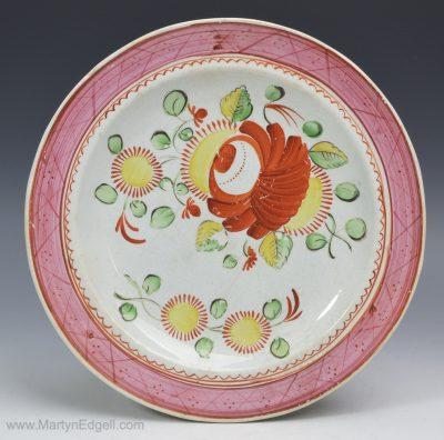 Kings rose plate