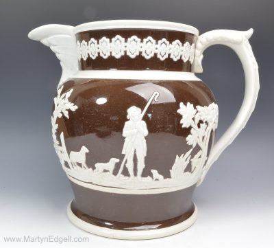 Staffordshire pearlware jug