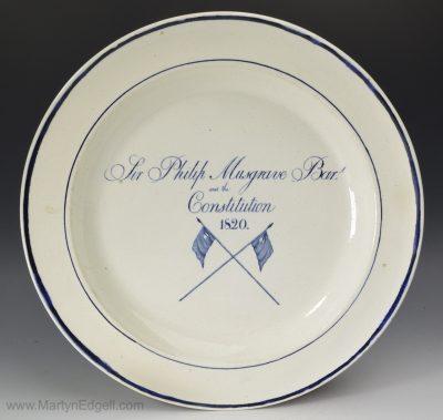 Pearlware commemorative plate