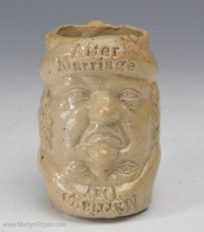 Salt glazed stoneware mug