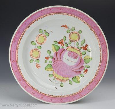 Kings rose pearlware plate