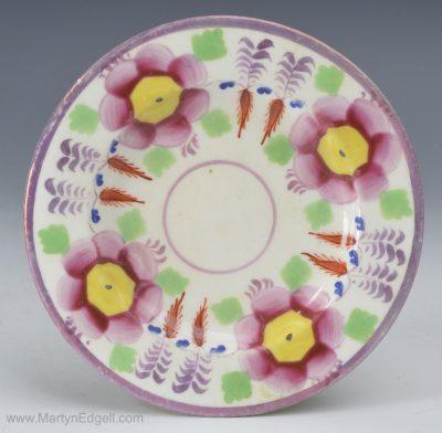 Lustre porcelain cup plate