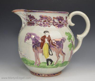 Lustre pearlware jug