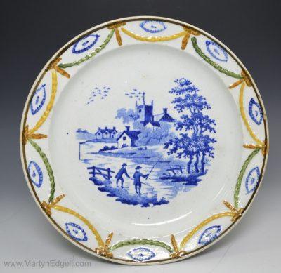 Prattware children's plate