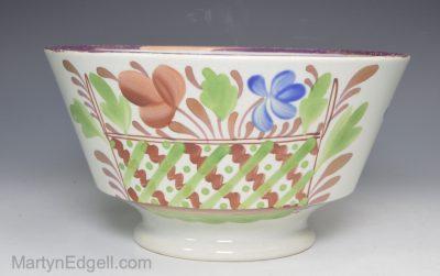 Pearlware lustre bowl