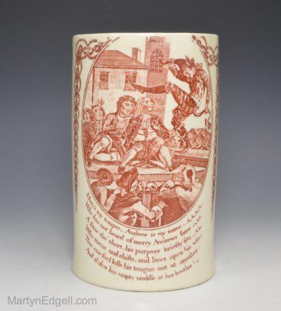 Creamware pottery mug