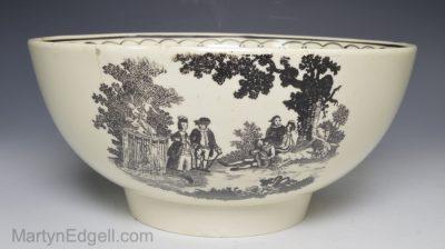 Creamware pottery bowl