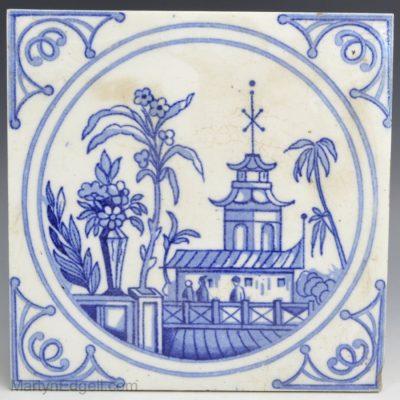 Minton pottery tile