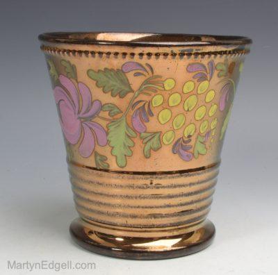 Copper lustre beaker