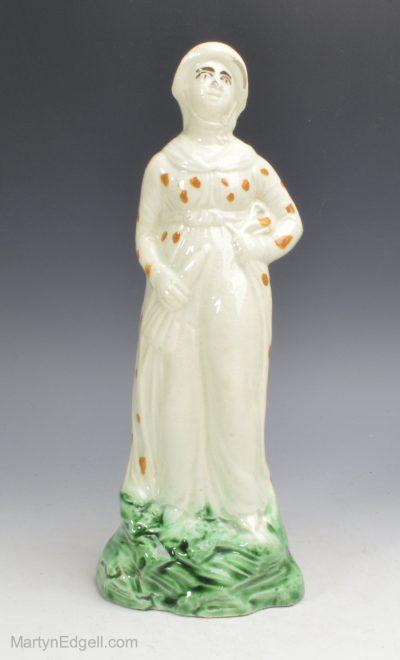 Pearlware pottery figure
