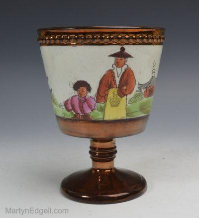 Copper lustre goblet