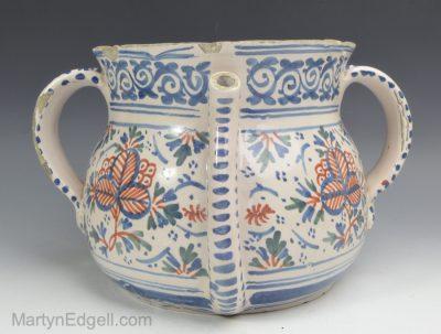 London Delft posset pot