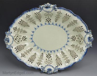 Pearlware pierced bowl