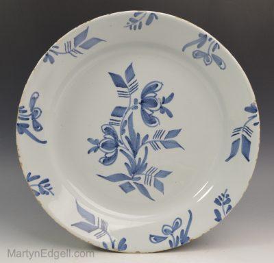 English Delft pancake plate