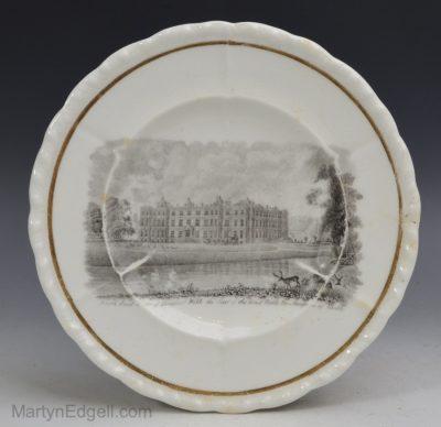 Porcelain bat print plate