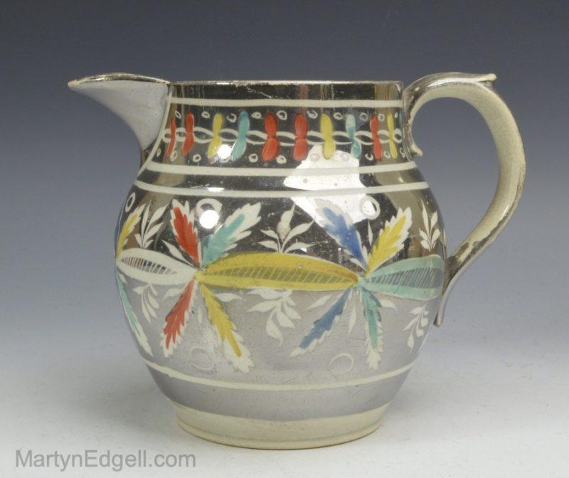 Silber lustre pearlware jug