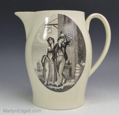 Creamware pottery jug
