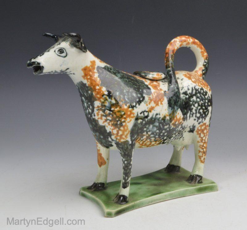 Pearlware cow creamer