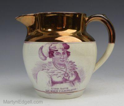 Commemorative lustre jug