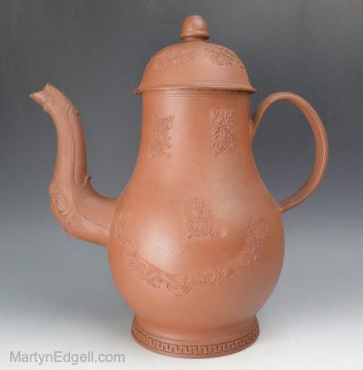 Redware coffee pot