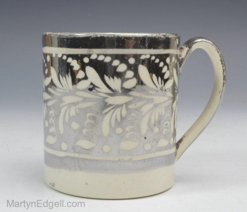 Silver lustre mug
