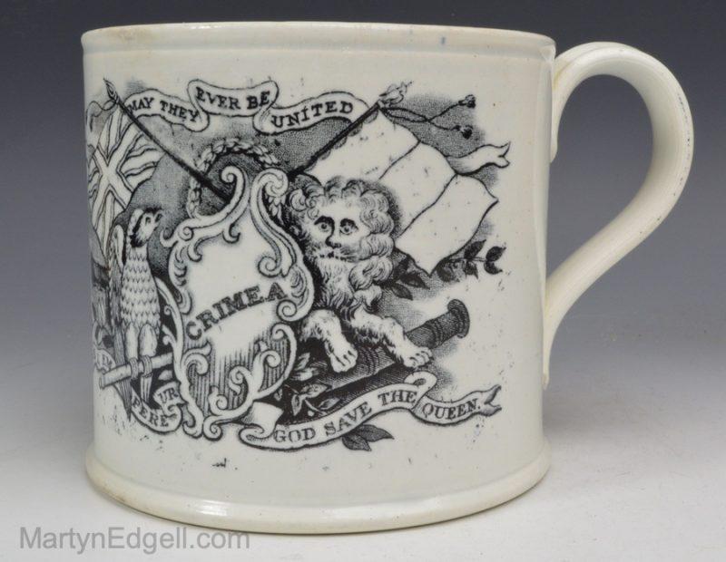 Commemorative pearlware mug