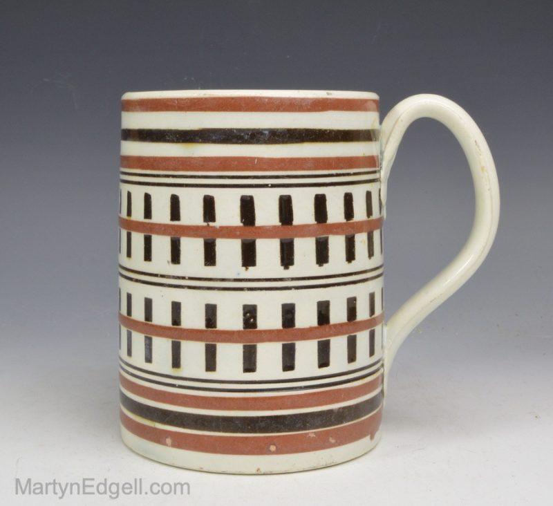 Mocha pearlware mug