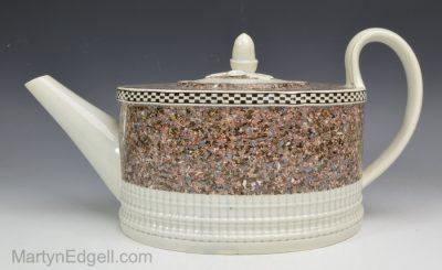 Pearlware agate teapot