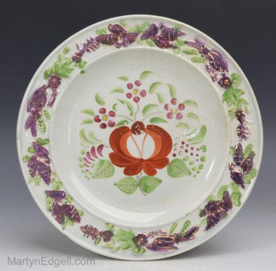 Pearlware lustre plate