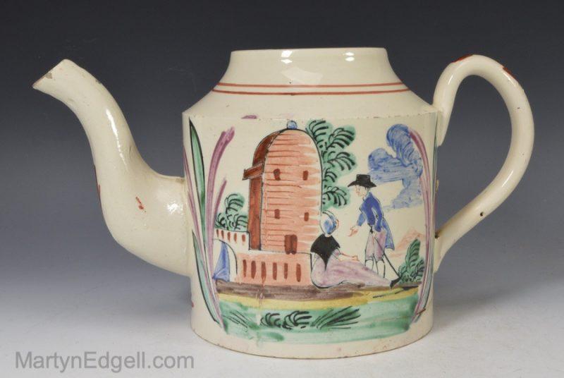 Creamware teapot