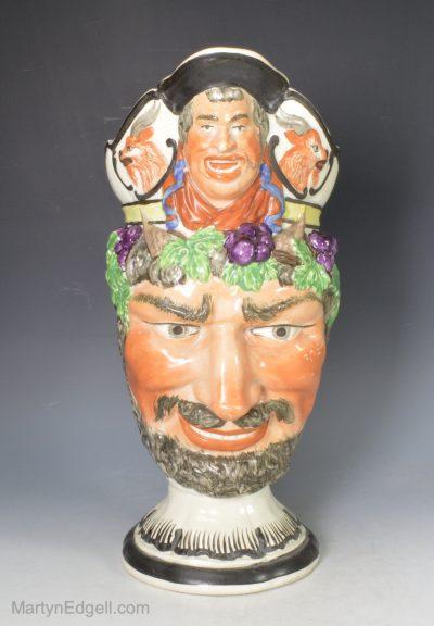 Pearlware Bacchus jug