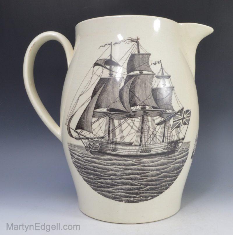 Creamware jug