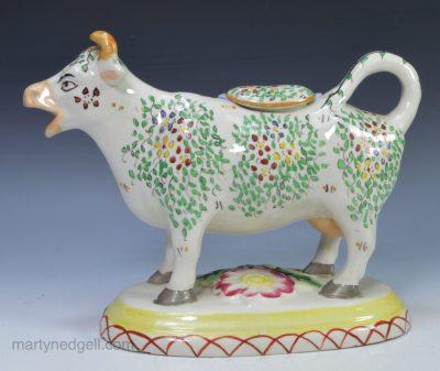 Staffordshire cow creamer