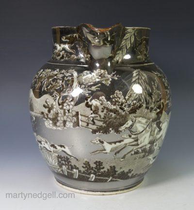 Silver lustre jug