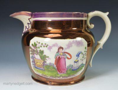 Lustre pottery jug