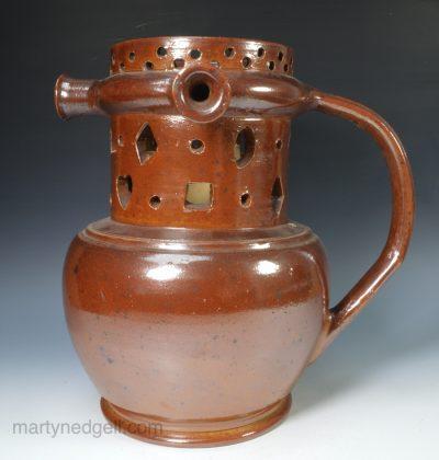 Saltglaze stoneware puzzle jug