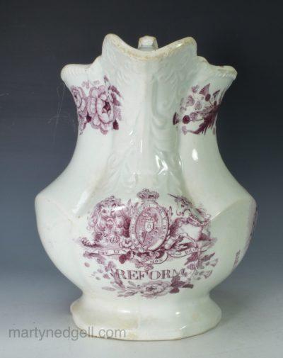 Pearlware reform jug