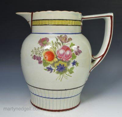 Pearlware puzzle jug