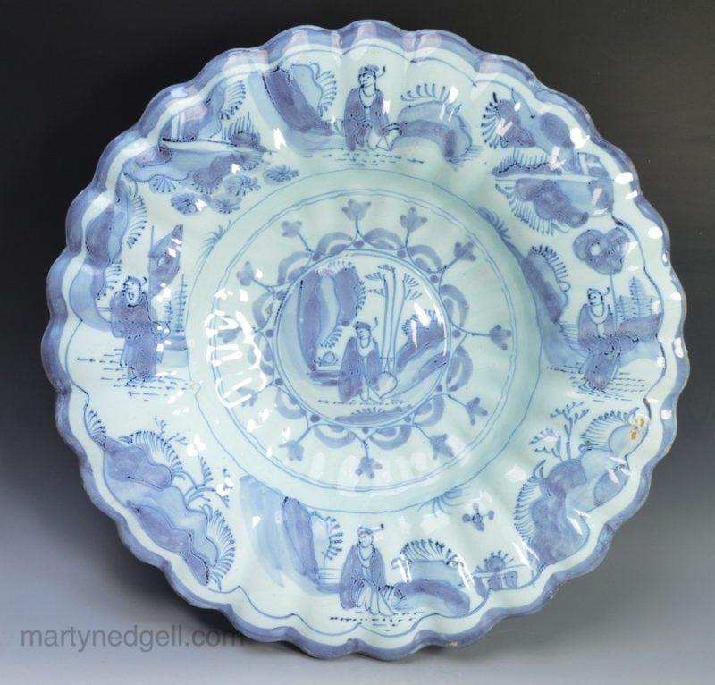 Dutch Delft buckle dish