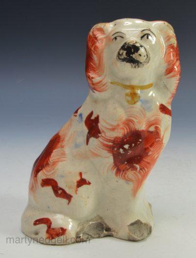 Staffordshire pottery dog