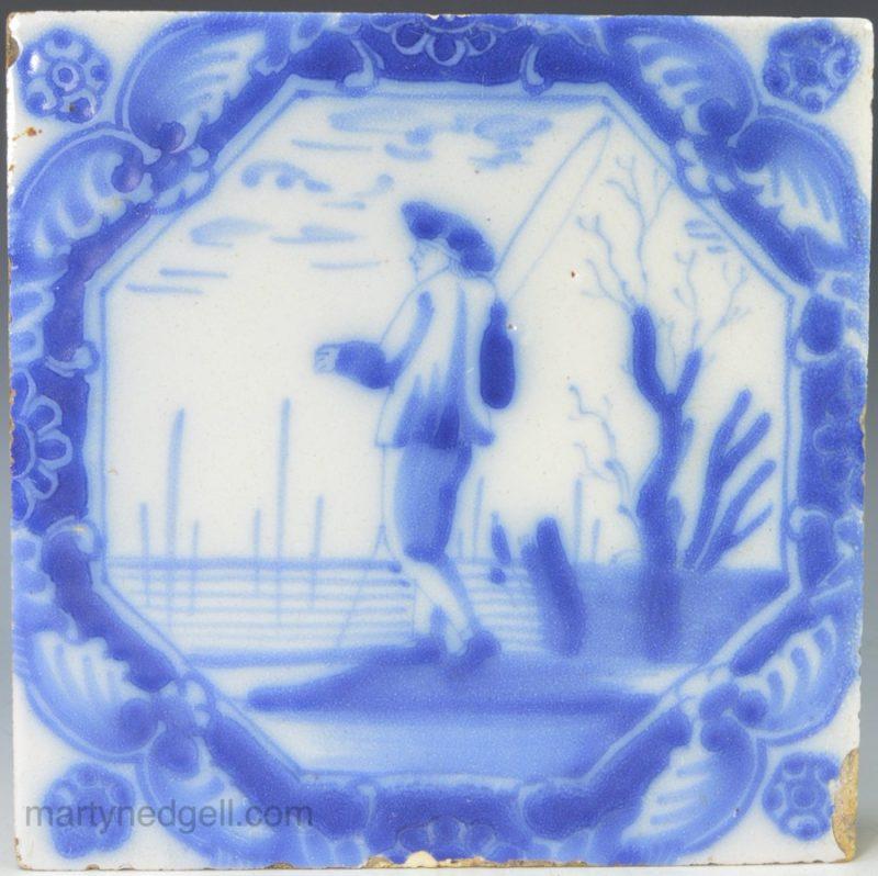 English Delft tile